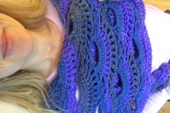 Purple Virus Shawl