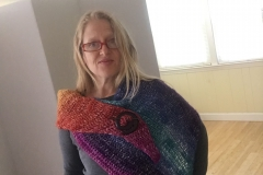 rainbow shawl 2