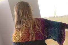 rainbow shawl 9