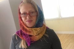 rainbow shawl 4