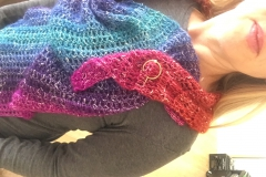 rainbow shawl 13
