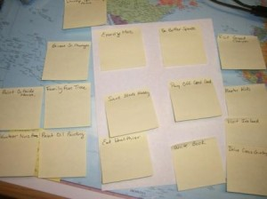 goals yellow stickies