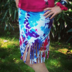 Fringed Beach Wrap No Sew DIY project