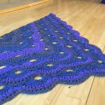 Crochet Shawl Purple